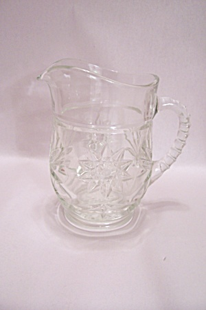 Fireking/anchor Hocking Eapc Crystal Glass Pitcher