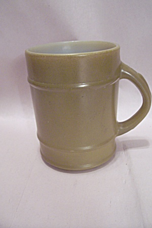 Fireking/anchor Hocking Avocado Green Glass Ranger Mug