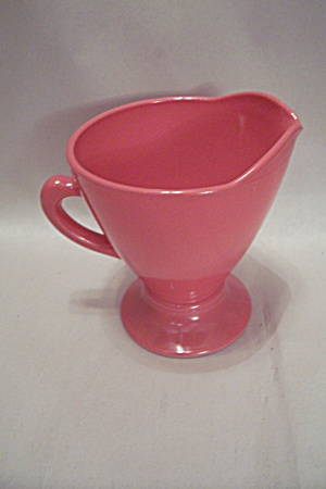 Fireking/anchor Hocking Rainbow Pattern Pink Creamer