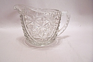 Fireking/anchor Hocking Oatmeal Crystal Glass Creamer