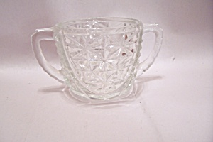 Fireking/anchor Hocking Oatmeal Pattern Sugar Bowl