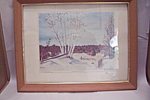 Winter Birches Art Print By Dwight David Eisenhower (Image1)