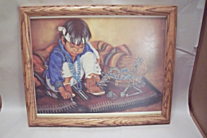 Little Navajo Jewelry Art Print By Carol Theroux (Image1)