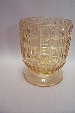 Viking Amber Glass Pedestal Toothpick Holder (Image1)