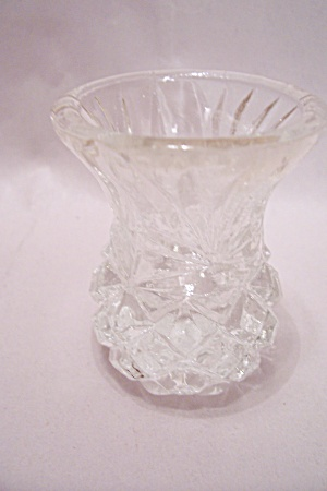 Pineapple Pattern Crystal Glass Toothpick Holder (Image1)