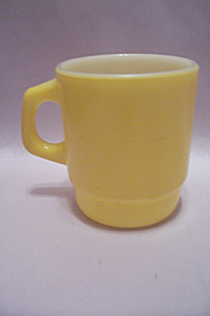 Fireking/anchor Hocking Yellow Stackable Mug