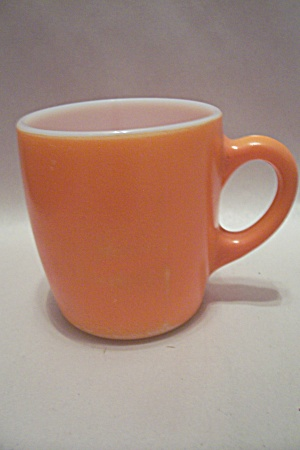 FireKing/Anchor Hocking Orange Glass Mug (Image1)