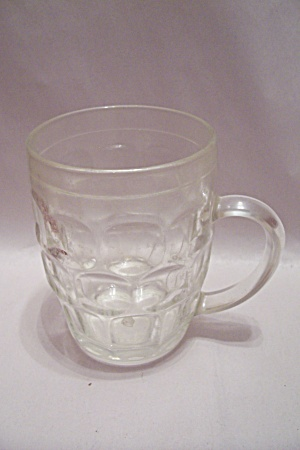 Thumbprint Pattern Crystal Glass Beer Mug (Image1)