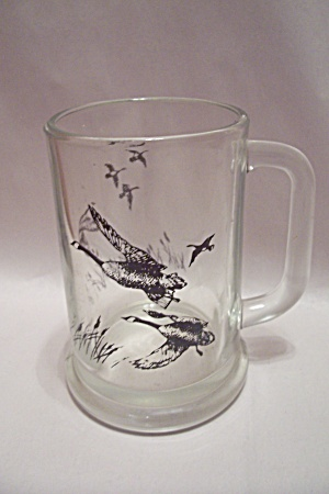 Avon Crystal Glass Canadian Geese Spotsman Beer Mug