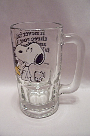 Snoopy Root Beer (or Beer) Crystal Glass Mug (Image1)