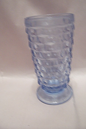 Whitehall Pattern Light Blue Glass Footed Tumbler (Image1)
