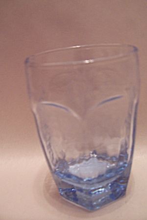 Libby Light Blue 6-sided Glass Juice Tumbler