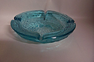 Fireking/anchor Hocking Soreno Aquamarine Ash Tray