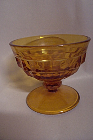 Indiana Glass Whitehall Pattern Amber Glass Sherbet (Image1)