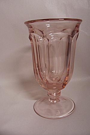 Light Pink Footed 6-Sided Soda Glass (Image1)