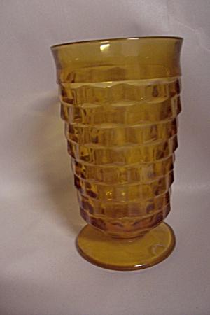 Indiana Glass Whitehall Pattern Amber Glass Tumbler (Image1)