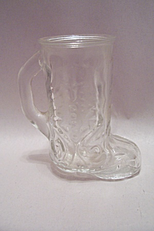 Cowboy Boot Crystal Glass Toothpick Holder