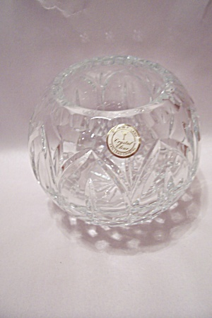 Polish Fine Lead Crystal Bulbous Vase