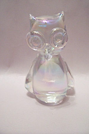 Opalescent Crystal Glass Cat Paperweight (Image1)