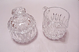 Crystal Glass Sugar & Creamer Set