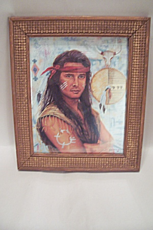 Native American Warrior Portrait Art Print (Image1)