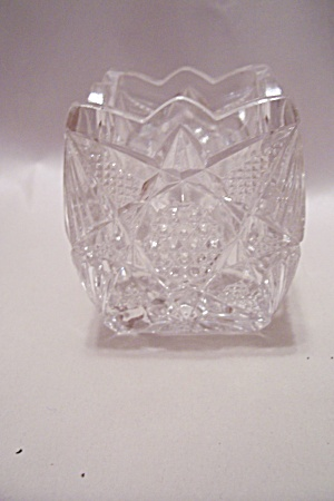 Crystal Cut Glass Square Toothpick Holder (Image1)
