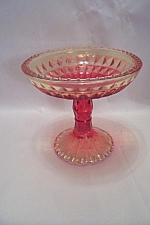 Amberina Pedestal Glass Candy Dish (Image1)