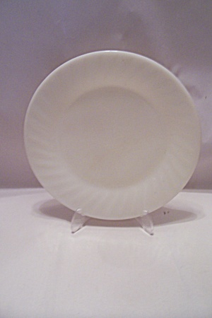 Fireking/anchor Hocking Ivory Swirl Dinner Plate
