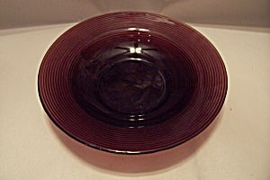 Amethyst Pattern Glass Coupe Soup Bowl (Image1)