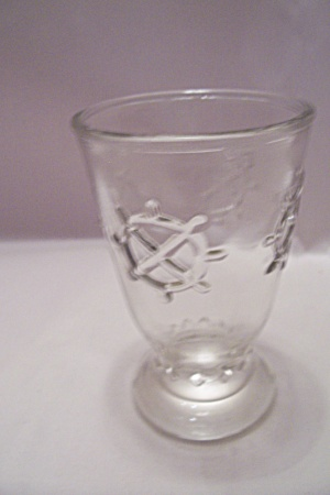 Hocking Crystal Glass Footed Juice Glass