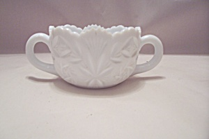 Milk Glass Sugar Bowl With Handles