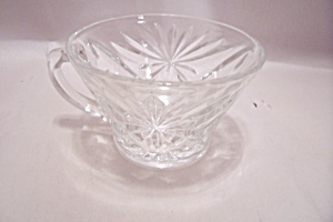 Early American Prescut Crystal Glass Punch/snack Cup