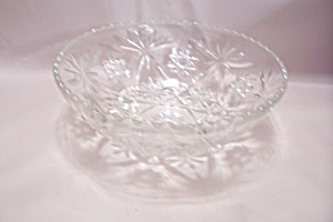Early American Prescut Crystal Glass Salad Bowl