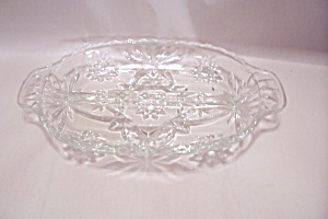 Early American Prescut Crystal Glass 2-Part Relish Tray (Image1)