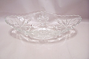 Early American Prescut Crystal Glass Gondola Dish (Image1)