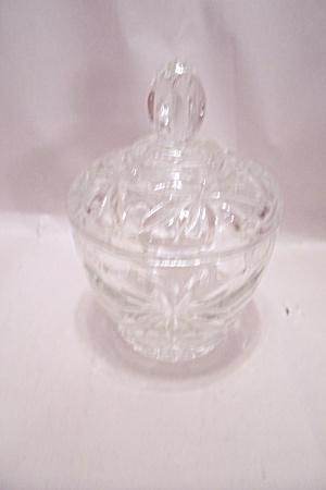 Early American Prescut Crystal Glass Sugar W/Lid (Image1)