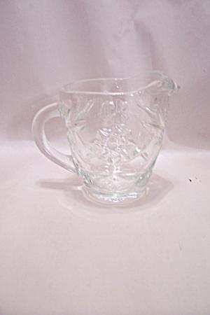 Early American Prescut Crystal Glass Creamer (Image1)