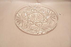 Early American Prescut Crystal Glass Coaster (Image1)