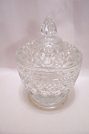 Anchor Hocking/FireKing Wexford Pattern Sugar W/Lid (Image1)