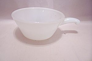 Fire King/anchor Hocking Milk Glass Handled Custard