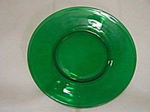Forest Green Depression Glass Snack Plate