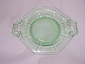 Light Green Depression Glass Oval Handled Dish