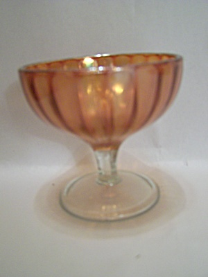 Peach Carnival Depression Glass Sherbet