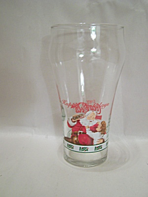 Coca Cola Holiday Glass