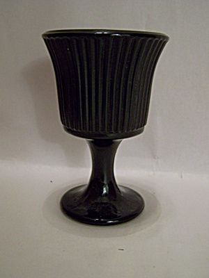 Black Glass Small Goblet Or Wine Glass (Image1)