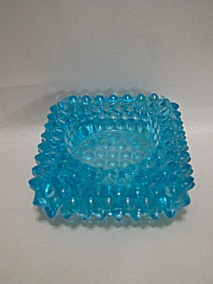 Fenton Light Blue Hobnailed Art Glass Salter