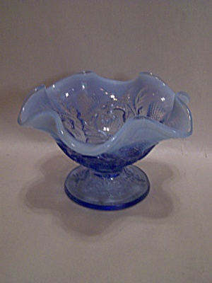 Fenton Two-toned Small Blue Art Glass Compote