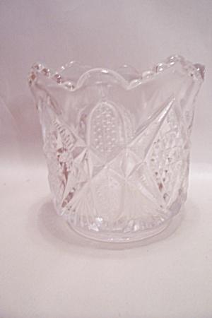 Crystal Pattern  Glass Cache Pot/Vase (Image1)