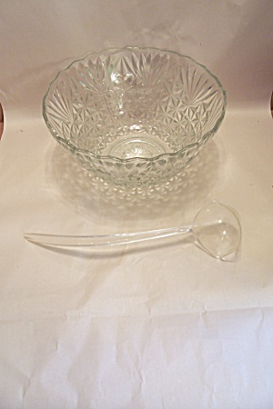 Anchor Hocking Pineapple Pattern Crystal  Punch Bowl (Image1)