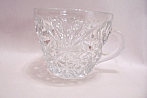 Anchor Hocking Pineapple Pattern Crystal Punch Cup